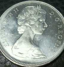 1966 Canada Silver Dollar BU + Cameo Proof-like from an original roll