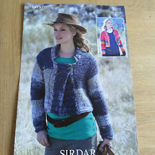 Sirdar Indie Pattern No. 9593 Ladies Short Jacket