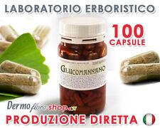 Glucomannano 100 capsule da 500mg - Antifame, aumenta il senso di sazietà