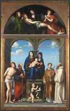 Francesco Francia la Saint Anne ALTARPIECE da San Frediano, Lucca stampa in A4