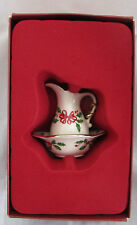 Lenox Holiday Pitcher & Bowl Ornament New in Box