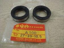 NOS SUZUKI A100  AS100 AS80 A80 Front Fork Seal / 2 pcs  // 27-39-10.5 //