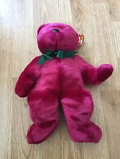 Ty Beanie Buddy Teddy 1998 Tags Retired Cranberry 2OF5