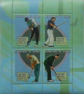 Golf players m/s Guinea 2000 MNH #M103