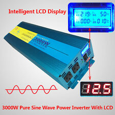 Pure Sine Wave Inverter 3000W / 6000W DC 12V TO AC 240V With LED Double DISPLAY