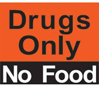 """""""Drugs Only No Food"""" Magnet 2 pk"""