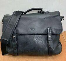 Tumi Sundance Pebbled Leather Black Messenger Laptop Satchel Bag