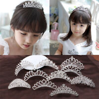 Rhinestone Kid Girl Crystal Tiara Hair Band Bridal Princess Prom Crown Headband