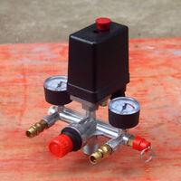 Air Compressor Pump Pressure Control Switch Valve 90-120PSI 220/380V With Gauge