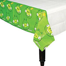 ANGRY BIRDS PAPER TABLE COVER ~ Birthday Party Supplies Decoration Cloth Green