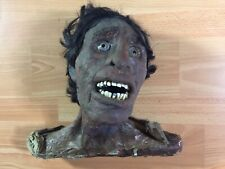 Vintage Carnival Sideshow Movie Prop Gaff Zombie Head Halloween Scary