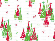 100 Music Rockin Christmas Trees Cellophane Holiday Winter Large 5x11 Cello Bags