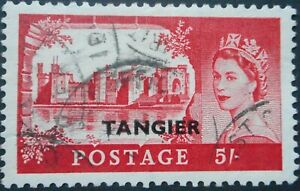 Morocco Agencies/Tangier 1955 QEII Five Shillings SG 311 used