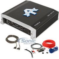 Autotek TA1250.2 1200W 2 Channel Car Amplifier w/ Complete 8 AWG Amp Wiring Kit