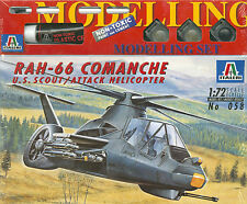 RAH-66 Comanche U.S. Scout/Attack Helicopter Italeri 058 1:72 inkl Farben Pinsel