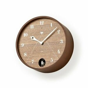Lemnos PACE Brown LC11-09 BW LC11-09 BW Wall Clock Japan F/S NEW