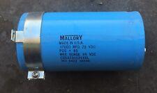 MALLORY CAPACITOR CGS373U075X5L 37000 MDF 75VDC POS +85