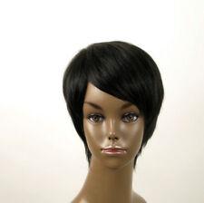 perruque afro femme 100% cheveux naturel courte noir ref JEAN 02 1B