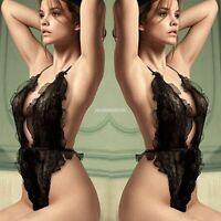 Women's Babydoll Dress Lace G-string Sexy Lingerie Underwear Nightwear Sleepwear