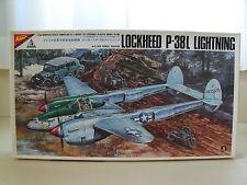 NICHIMO - LOCKHEED P-38L LIGHTNING FIGHTER PLANE - 1/48 MODEL KIT (OPENED)