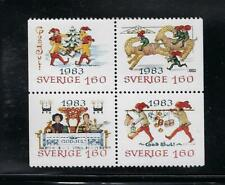 Sweden Scott 1474-1477 MNH Block