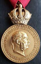 ✚7563✚ Austria Hungary Signum Laudis Military Merit Medal bronze Franz Joseph I.