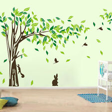 Asmi Collections Wall Stickers Beautiful Large Tree Birds Squirrel Rabbit