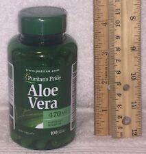 Aloe Vera - Puritans Pride  100 rapid release capsules,  470 mg each