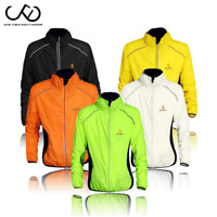 Men's Cycling Jersey Long Sleeves Waterproof Windbreaker Reflective Bike Jacket