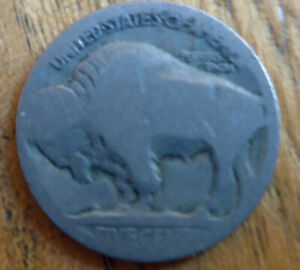 USA Buffalo Nickel - Date unclear - Issued between 1913 and 1938 - Indian Head