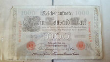 Billet de banque 1000 mark Reich banknote bank note banconota billete 钞票 Berlin