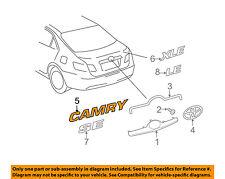 TOYOTA OEM 07-11 Camry Trunk Lid-Emblem Badge Nameplate 7544206050