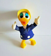Walt Disney Productions Donald Duck AW Hat Hong Kong Plastic Flocked Figure Vtg