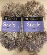 Berroco Sizzle Color 1713 Taupe.100% Polyester. 1 Set of 2 Balls.Eyelash.