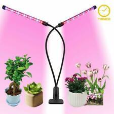 Plant Grow Light Gooseneck Dual Head Led Lamp Hydroponics Greenhouse Dimmable