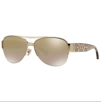 Coach HC7042 91806E 60MM Sunglasses Gold Khaki Crystal Gold 60-14-135