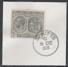 St Kitts 5463 - 1920 KG5 2d on piece with MADAME JOSEPH FORGED POSTMARK
