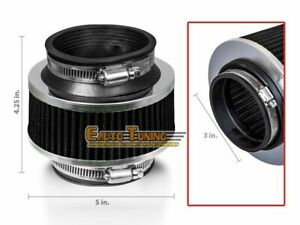 """3"""" Inlet Cold Air Intake Bypass Valve Filter Universal BLACK For Acura"""