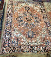 Antique Large Middle Eastern Hand Woven He riz Carpet
