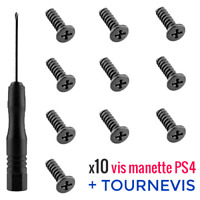 10x Vis manette Playstation DualShock 4 PS4 Pro Slim controller screws+Tournevis