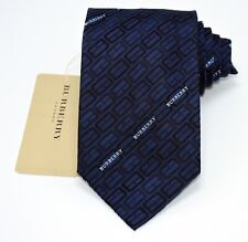 "NEW Burberry DARK BLUE Mans 100% Silk Tie Authentic Italy Made 3.5"" 0350230"