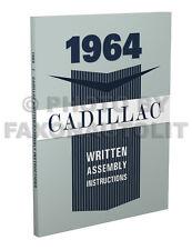 1964 Cadillac Written Assembly Manual Deville Eldorado Series 62 60 75 Fleetwood