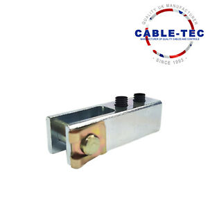 Universal Self Fix Clevis With Bolts   Cable Tec