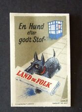 "Cinderella POSTER STAMP DOG CARING COMMIE PAPER  DENMARK  "" SEE PIC"