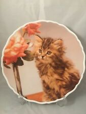 More details for royal albert cute kittens tiger bone china plate 1994 cat made in england