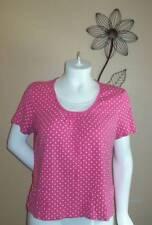 Size 1X Kim Rogers Pink,white,yellow Polka Dot Short sleeve Top