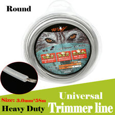 Universal 3.0mm x 58M Heavy Duty Steel Strimmer Trimmer Line Brush Cutter Cord