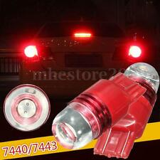 2x Car 12V 7440 7443 Red Tail Rear Strobe Flashing Brake Stop Light Bulb Lamp !