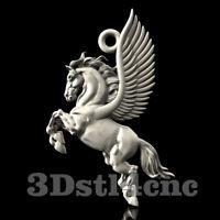 3D Model STL CNC Router Artcam Aspire Pendant Jewels Pegasus Decor Cut3D Vcarve