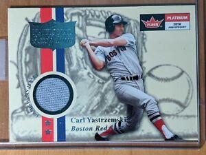 2001 Fleer Platinum National Patch Time Carl Yastrzemski Jersey HOF RED SOX